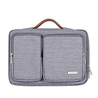 Túi chống sốc/Cặp đựng Laptop, Macbook 13 inch vải Canvas cao cấp chống thấm nước phong cách lịch lãm, thời trang,  nhỏ gọn và tiện dụng