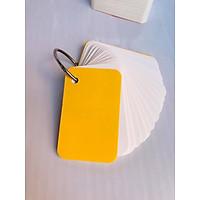 combo 1000 thẻ flashcard trắng 5x8cm giấy ivory cao cấp bo góc tặng kèm khoen+ bìa bộ thẻ ghi nhớ học từ vựng anh nhật hàn (màu bìa ngẫu nhiên)