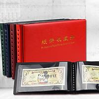 Quyển Album Đựng Tiền Giấy Mini PCCB MINGT Có 20 Phơi Nền Đen (Màu ngẫu nhiên)