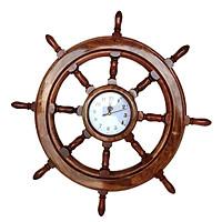 Vô lăng tàu gỗ trang trí Ø50cm (có đồng hồ)