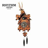 Đồng hồ treo tường Rhythm Cuckoo 4MJ416-R06 - Kt 24.6 x 61.0 x 15.0cm, 1.3kg Vỏ gỗ, dùng PIN.