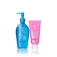 Bộ đôi Dầu tẩy trang và Sữa rửa mặt Collagen Senka (A.L.L Clear Oil 230ml + PW Collagen In 120g)_95011