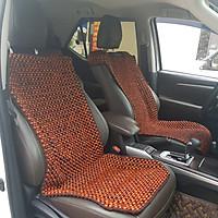 Đệm hạt gỗ tựa lưng massage lót ghế ô tô 100% gỗ Hương tự nhiên, dạng đan kết diềm mép cao cấp - Kích thước (D X R): 1,17 X  0,48 (M) - Trọng lượng: 3,2Kg