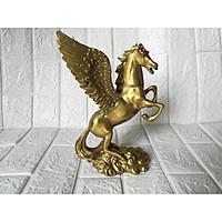Ngựa cánh thiên mã đồng vàng cao 24cm