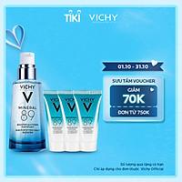 Bộ sản phẩm Serum khoáng phục hồi chuyên sâu Vichy Mineral 89 50ml và 3 serum khoáng phục hồi chuyên sâu Mineral 89 15ml