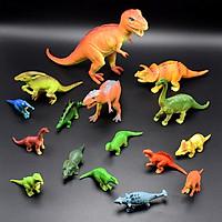 Bộ 16 mô hình khủng long kỉ Jurassic World Dinosaurs dành cho bé 5 tuổi trở lên làm đồ chơi, kích thích trí tò mò, tăng khả năng ghi nhớ và học hỏi về thế giới khủng long