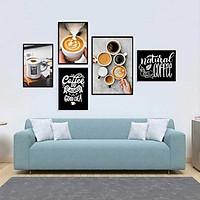Bộ khung ảnh treo tường composite Cà phê 6 tặng đinh 3 chân  KA238