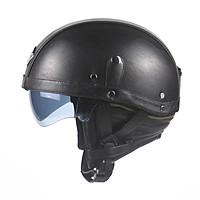 Mũ bảo hiểm da cho xe máy kiểu dáng nửa đầu phong cách retro Unisex Leather Helmets for Motorcycle