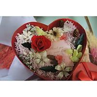 Hộp hoa khô trái tim. Valentine love day