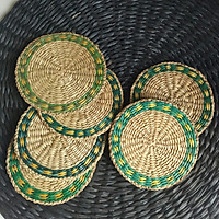 Bộ 6 lót ly bằng cói (cỏ biển)