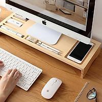 Kệ gỗ thông minh kê máy tính bằng gỗ thông tự nhiên