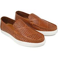 Giày lười nam da bò đục lỗ siêu thoáng Rozalo R7000