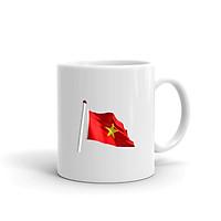 Cốc Sứ Cao Cấp In Hình Lá Cờ Tổ Quốc Việt Nam - Mẫu004