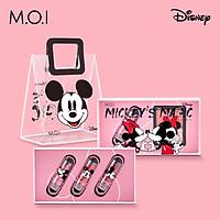SET 3 Son Dưỡng Môi Có Màu M.O.I Hồ Ngọc Hà MAGIC LIPS Mickey Disney Mềm Môi Giữ Màu Lâu Căng Mọng 3 Tone Màu Tự Nhiên [Tặng Túi Mickey]