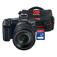 Combo: Máy ảnh Canon EOS R KIT RF24-105 + Thẻ nhờ + Túi đựng máy ảnh - Hàng chính hãng