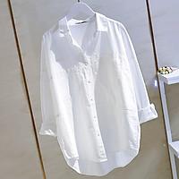 Áo sơ mi nữ cổ đức form rộng chất đũi 2 túi ốp trẻ trung ArcticHunter, thời trang trẻ, thương hiệu chính hãng