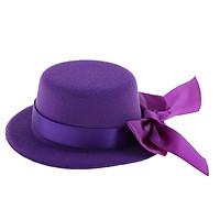 Fashion Black Bowler Hat with Bowknot Decor for 60cm Lolita 1/3 SD DZ BJD