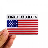Sticker hình dán metal Cờ Mỹ - Miếng lẻ hcn UNITED STATES