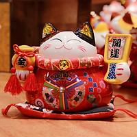 Mèo Thần tài Đỏ 15cm Mã 1