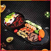 Bếp lẩu nướng điện đa năng 2 trong 1 model BL01 cao cấp tiện lợi an toàn