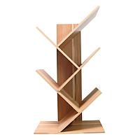 Kệ sách gỗ dạng xương cá, giá sách gỗ