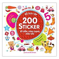 Bộ Sưu Tập 200 Sticker - Số Đếm, Hình Dạng , Màu Sắc