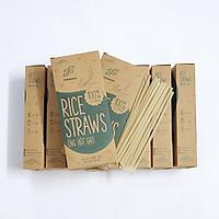 Combo 10 hộp ống hút gạo Rice Straws (loại có màu hoặc không màu)