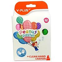 Sáp Màu YPLUS+ Peanut Pastel 12 Màu CR2001-PEANUT