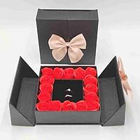 Hộp đựng trang sức dây chuyền, nhẫn hoa hồng