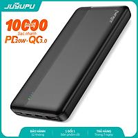 Pin sạc dự phòng JUYUPU PQ1C 10000mAh sạc nhanh PD QC3.0 20W đèn led báo hiệu dành cho iPhone Samsung OPPO VIVO HUAWEI XIAOMI - HÀNG CHÍNH HÃNG