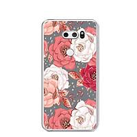 Ốp lưng dẻo cho điện thoại LG V30 - 0331 ROSE04 - Hàng Chính Hãng