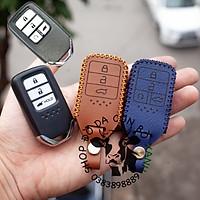 Bao da dành cho chìa khoá Honda City, CRV, CIVIC, ACCORD, CR-V loại smartkey handmade da thật 003