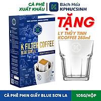 [Giao Nhanh HCM] [Tặng 3 Gói Mì Cao Cao Cấp] - Cà Phê Phin Giấy K FILTER COFFEE BLUE SON LA THƯƠNG HIỆU K COFFEE (105g / Túi)