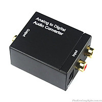Bộ chuyển đổi âm thanh tivi 4k Optical sang Av R/L loa Có Cục Nguồn Rời - Hàng nhập khẩu