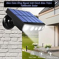 Đèn Cảm Ứng Ngoài trời Cảnh Báo Trộm 1200mAh Solar