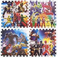 Bộ 4 tấm Thảm xốp lót sàn an toàn Thoại Tân Thành hình năm anh em siêu nhân (60x60cm)