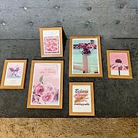 Khung ảnh treo tường kèm ảnh hình hoa i hình MS-096