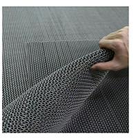 Thảm nhựa chống trơn trượt khổ 90cm màu xám sử dụng lót sàn xe, khu vực dầu mỡ, dễ trơn trượt, hồ bơi, toilet, sân ướt
