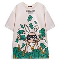 Áo Thun Unisex Bad Rabbit Hustle Màu Cream 100% Cotton - Local Brand Chính Hãng