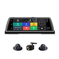 Camera hành trình đặt taplo ô tô cao cấp K600 tích hợp 4 camera, Android Wifi GPS