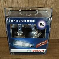 Bóng Đèn Tăng Sáng Chính Hãng Bosch H7 12V 55W Sportec Bright 4000K (Hộp 2 Bóng)