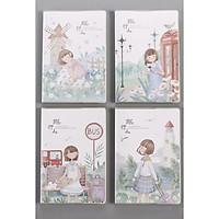 Sổ vở kẻ ngang bìa nhựa trong Cô gái đi du lịch A5 64 trang 21x14,5cm  - 1 mẫu - màu ngẫu nhiên