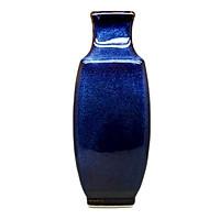 Bình hoa 4 cạnh đại  Đông Gia-màu men hỏa biến  tự nhiên Xanh sóng biển 8094 Rafferty Vase