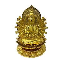 Tượng Phật Quan Âm nghìn mắt nghìn tay kèm nước hoa trang trí taplo ô tô  A72510