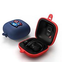 Vỏ bao silicon hoạt hình siêu nhân bảo vệ tai nghe Apple Powerbeats Pro chống sốc, chống bám bẩn có kèm móc gắn (không gồm tai nghe)