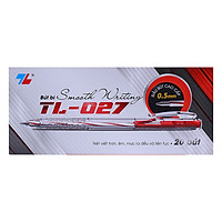 Hộp 20 Bút Bi Thiên Long TL-027 - Đỏ