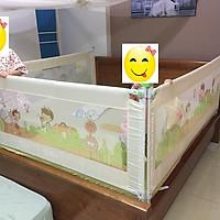 Thanh chắn giường cho Bé- Mẫu mới nhất- 2m- Màu Kem