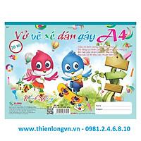 Vở vẽ ghim xé dán gáy A4 - 20 tờ; Klong 709 bìa xanh