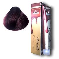Thuốc nhuộm tóc màu tím than 4.66 hương Socola 123 Chocolate Color Cream 100ml