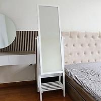 Gương toàn thân bằng gỗ xoay 360°